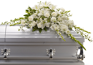 Bountiful Memories Half Casket Spray