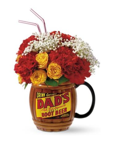 Dad\'s Root Beer Mug of Flowers