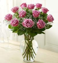 Rose Elegance Long Stem Purple Roses
