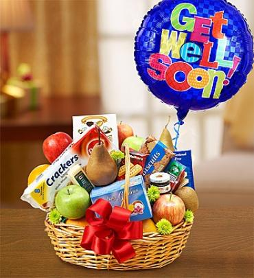 Get Well Fruit & Gourmet Basket