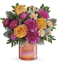 Perfect Spring Peach Bouquet by Teleflora