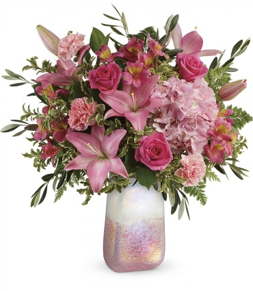 Blushing Lilies Gemstone Bouquet