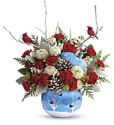 Teleflora Cardinals in the Snow Ornament
