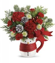 Send a Hug Snowman Mug by Teleflora